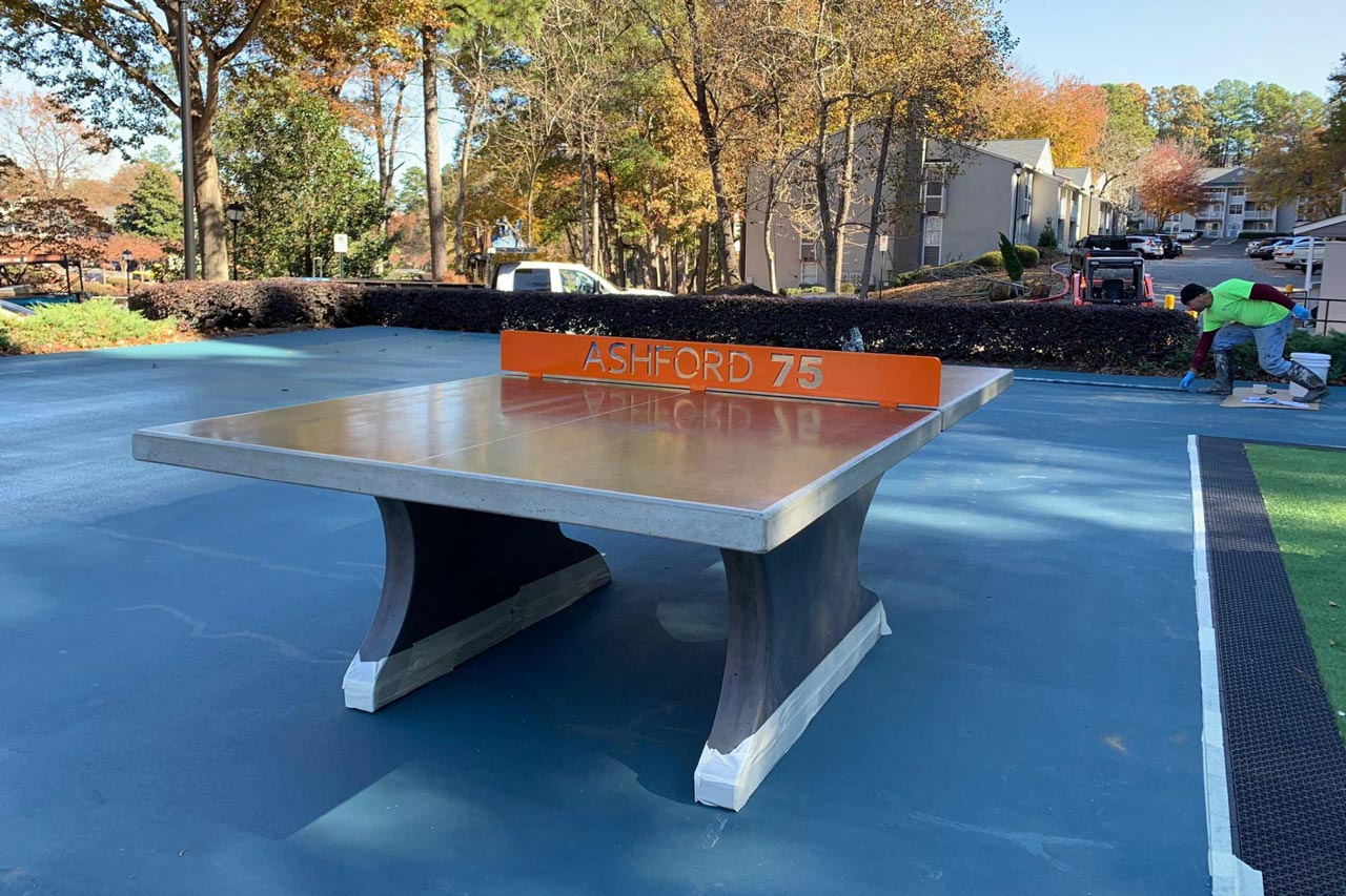 Southeast Outdoors Solutions Project Outdoor Concrete Table Tennis & Cornhole Boards